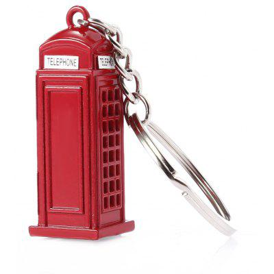 3D London Telephone Booth Zinc Alloy Key Chain