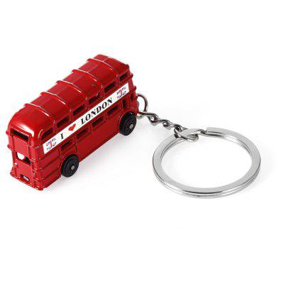 3D Zinc Alloy London Sightseeing Bus Key Chain