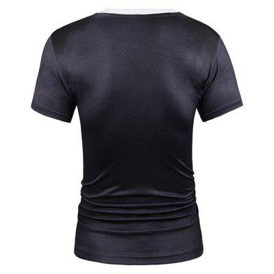 Casual Black Suit Printing T-shirtMens Short Sleeve Tees<br>Casual Black Suit Printing T-shirt<br><br>Fabric Type: Spandex, Polyester<br>Material: Polyester, Spandex<br>Neckline: Round Collar<br>Package Content: 1 x T-shirt<br>Package size: 38.00 x 30.00 x 2.00 cm / 14.96 x 11.81 x 0.79 inches<br>Package weight: 0.2000 kg<br>Product weight: 0.1800 kg<br>Season: Summer<br>Sleeve Length: Short Sleeves<br>Style: Casual