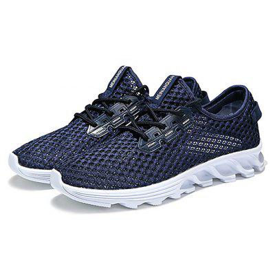 Masculino Respirável Soft Durable Flat Running Athletic Shoes