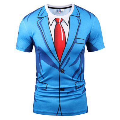Fashion Suit and Tie Printing T-shirt