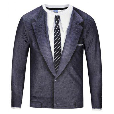 Gearbest Grey suit  long sleeve t-shirt