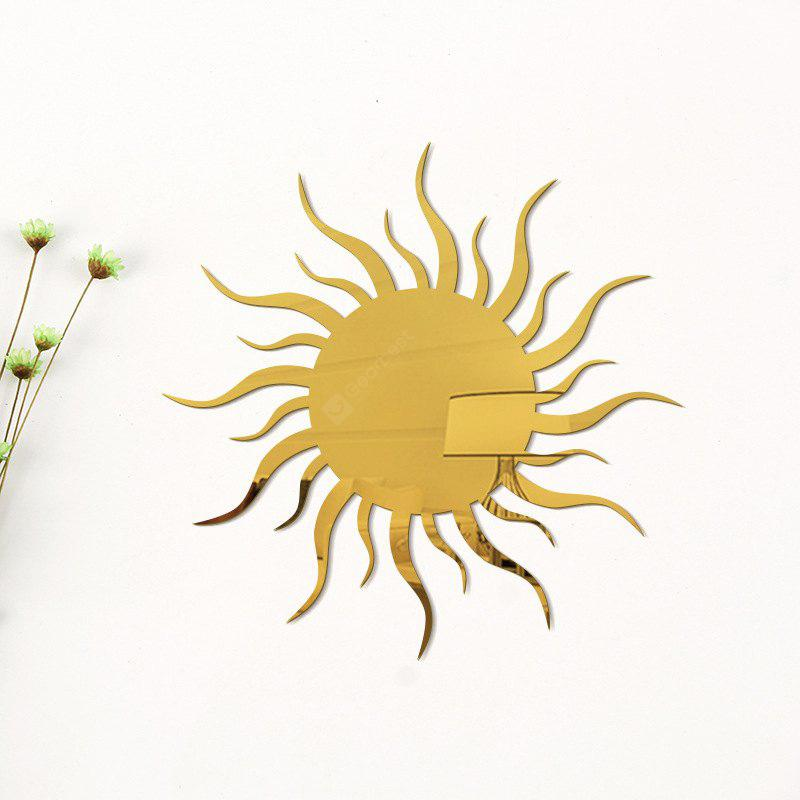 Removable Decorative Sun Shape Mirror Wall Stickers - $9.13 Free ...