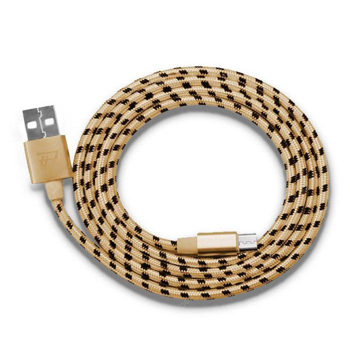 Micro USB Braided Data Transfer Charging Cable CHAMPAGNE