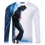 Casual Dancing Michael Printing T-shirt - BRANCO