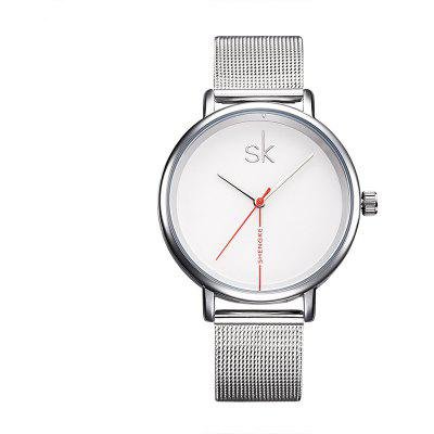SHENGKE K0050L Stainless Steel Band Women Watch