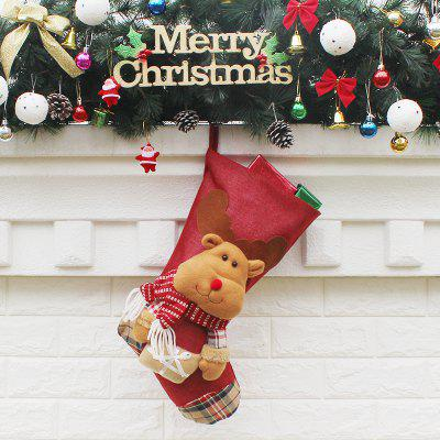 Christmas Stocking Adorable Deer Hanging SockChristmas Supplies<br>Christmas Stocking Adorable Deer Hanging Sock<br><br>For: Friends, Kids<br>Package Contents: 1 x Sock<br>Package size (L x W x H): 30.00 x 47.00 x 2.00 cm / 11.81 x 18.5 x 0.79 inches<br>Package weight: 0.1100 kg<br>Product size (L x W x H): 29.00 x 23.50 x 46.00 cm / 11.42 x 9.25 x 18.11 inches<br>Product weight: 0.1000 kg<br>Usage: Christmas