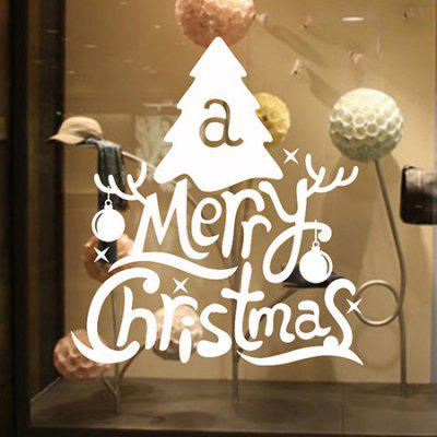Buy WHITE MCYH Christmas Tree Design Wall Sticker for $9.37 in GearBest store