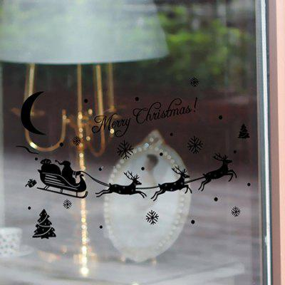 Buy BLACK MCYH Christmas Sticker Deer and Snowflake Pattern for $8.06 in GearBest store