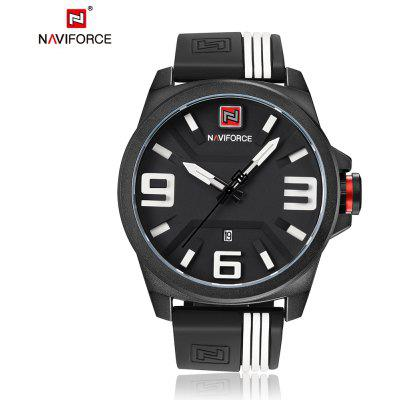 Buy WHITE AND BLACK NAVIFORCE Fashion Japan Movement Men Watch for $16.99 in GearBest store