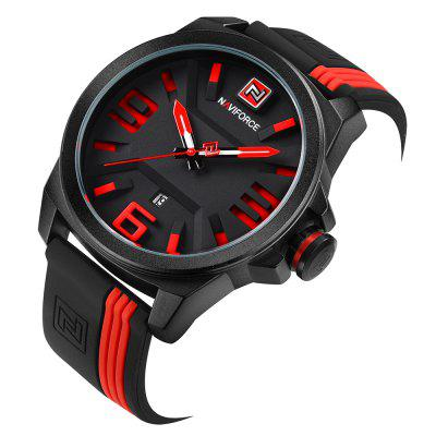 NAVIFORCE Fashion Japan Movement Men WatchMens Watches<br>NAVIFORCE Fashion Japan Movement Men Watch<br><br>Band material: Leather<br>Band size: 27 x 2cm<br>Case material: Stainless Steel<br>Clasp type: Pin buckle<br>Dial size: 4.9 x 4.9 x 1.4cm<br>Display type: Analog<br>Movement type: Quartz watch<br>Package Contents: 1 x Watch<br>Package size (L x W x H): 10.00 x 7.00 x 4.00 cm / 3.94 x 2.76 x 1.57 inches<br>Package weight: 0.1800 kg<br>Product size (L x W x H): 27.00 x 4.90 x 1.40 cm / 10.63 x 1.93 x 0.55 inches<br>Product weight: 0.1000 kg<br>Shape of the dial: Round<br>Watch style: Fashion<br>Watches categories: Men<br>Water resistance: 30 meters<br>Wearable length: 21.5 - 25.5cm