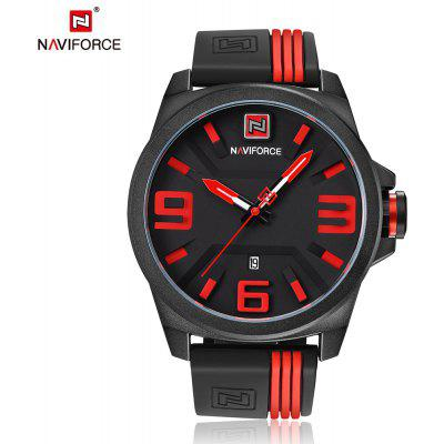 Buy RED NAVIFORCE Fashion Japan Movement Men Watch for $16.99 in GearBest store