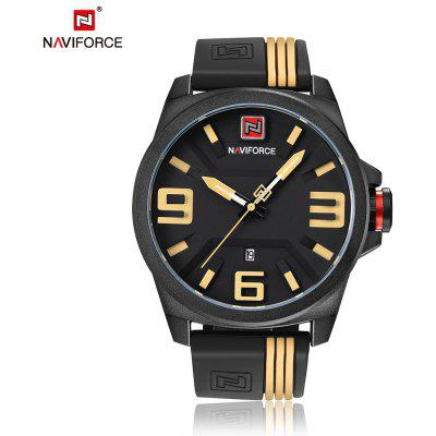 Buy YELLOW NAVIFORCE Fashion Japan Movement Men Watch for $16.99 in GearBest store