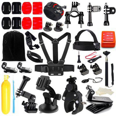 Buy BLACK 45 in 1 Universal Camera Accessory Kit for GoPro for $26.85 in GearBest store