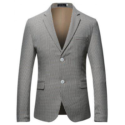 Buy GRAY Classic Two Buttons Suit for Men for $67.54 in GearBest store