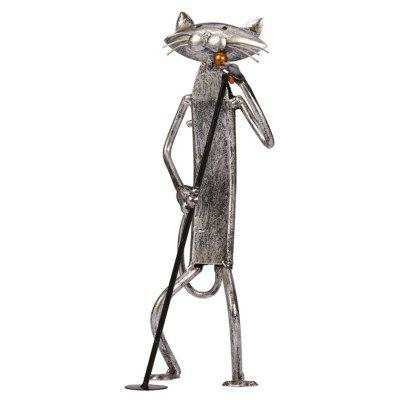 Buy IRON GREY MCYH521 Creative Metal Figurine Iron Singing Cat Artwork for $66.89 in GearBest store