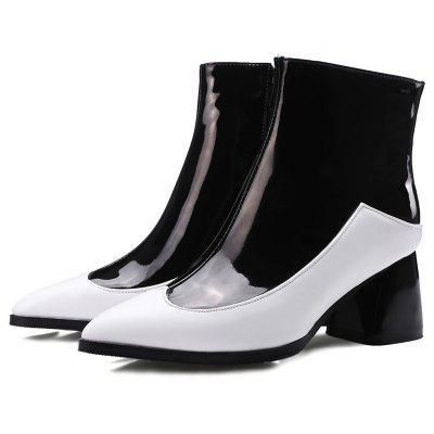 Masculino Trendy Split Joint Chunky Heel Boots