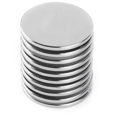 25 x 2mm Cylinder N52 NdFeB Strong Magnet 10pcs / set