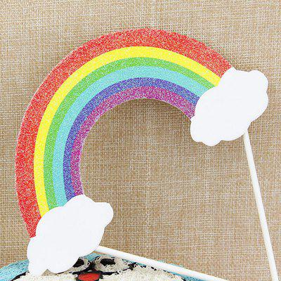 Crystal Colorful Rainbow Birthday Cake DecorationOther holiday and party supplies<br>Crystal Colorful Rainbow Birthday Cake Decoration<br><br>Material: Paper<br>Package Contents: 1 x Cake Decoration<br>Package size (L x W x H): 18.00 x 11.00 x 2.00 cm / 7.09 x 4.33 x 0.79 inches<br>Package weight: 0.0150 kg<br>Product size (L x W x H): 17.00 x 10.00 x 1.00 cm / 6.69 x 3.94 x 0.39 inches<br>Product weight: 0.0100 kg<br>Usage: Birthday, Christmas, New Year
