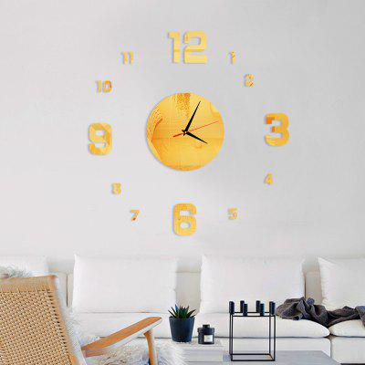 Decorative Round Figure Acrylic Mirror Wall Clock