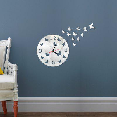 3D Decorative Butterfly Acrylic Mirror Wall Clock