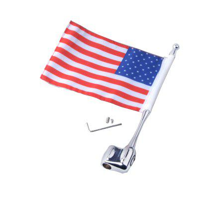 Motorcycle Unique Decorative Flag Pole with American FlagOther  Motorcycle Accessories<br>Motorcycle Unique Decorative Flag Pole with American Flag<br><br>Package Contents: 1 x Flag Pole, 1 x Decorative American Flag, 1 x Set of Assembly Parts<br>Package size (L x W x H): 26.50 x 6.00 x 5.00 cm / 10.43 x 2.36 x 1.97 inches<br>Package weight: 0.1550 kg<br>Product size (L x W x H): 25.50 x 5.00 x 1.00 cm / 10.04 x 1.97 x 0.39 inches<br>Product weight: 0.1350 kg