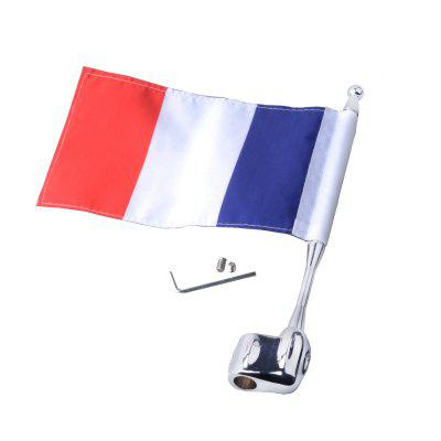 Motorcycle Unique Decorative Flag Pole with French FlagOther  Motorcycle Accessories<br>Motorcycle Unique Decorative Flag Pole with French Flag<br><br>Package Contents: 1 x Flag Pole, 1 x Decorative French Flag, 1 x Set of Assembly Parts<br>Package size (L x W x H): 26.50 x 6.00 x 5.00 cm / 10.43 x 2.36 x 1.97 inches<br>Package weight: 0.1550 kg<br>Product size (L x W x H): 25.50 x 5.00 x 1.00 cm / 10.04 x 1.97 x 0.39 inches<br>Product weight: 0.1350 kg