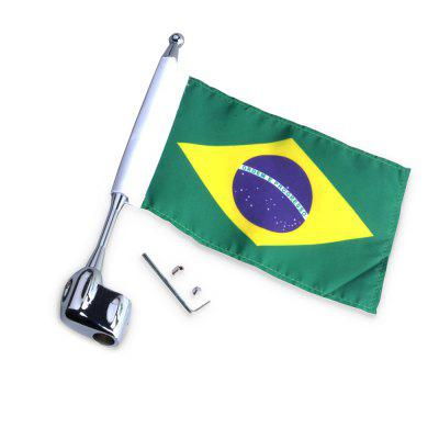 Motorcycle Unique Decorative Flag Pole with Brazilian FlagOther  Motorcycle Accessories<br>Motorcycle Unique Decorative Flag Pole with Brazilian Flag<br><br>Package Contents: 1 x Flag Pole, 1 x Decorative Brazilian Flag, 1 x Assembly Parts<br>Package size (L x W x H): 26.50 x 6.00 x 5.00 cm / 10.43 x 2.36 x 1.97 inches<br>Package weight: 0.1360 kg<br>Product size (L x W x H): 25.50 x 5.00 x 1.00 cm / 10.04 x 1.97 x 0.39 inches<br>Product weight: 0.1350 kg