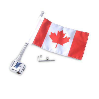 Motorcycle Unique Decorative Flag Pole with Canadian FlagOther  Motorcycle Accessories<br>Motorcycle Unique Decorative Flag Pole with Canadian Flag<br><br>Package Contents: 1 x Flag Pole, 1 x Decorative Canadian Flag, 1 x Assembly Parts<br>Package size (L x W x H): 26.50 x 6.00 x 5.00 cm / 10.43 x 2.36 x 1.97 inches<br>Package weight: 0.1360 kg<br>Product size (L x W x H): 25.50 x 5.00 x 1.00 cm / 10.04 x 1.97 x 0.39 inches<br>Product weight: 0.1350 kg