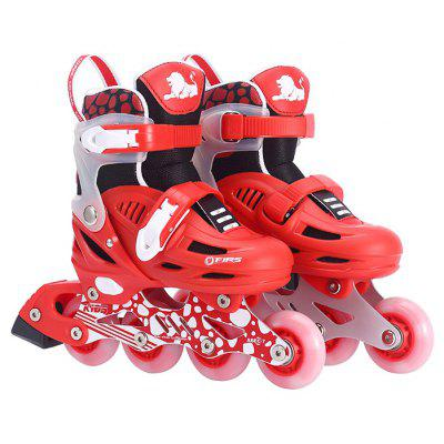Children Adjustable Inline Skate Glittery Roller Shoes