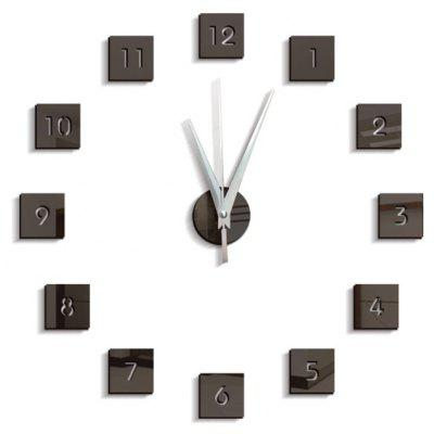 Buy BLACK Creative Wall Clock Home Decor Mirror Wall Sticker for $8.06 in GearBest store