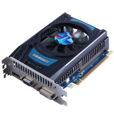 Yeston AMD Radeon R7 240 4GB GDDR5 Graphics CardGraphics &amp; Video Cards<br>Yeston AMD Radeon R7 240 4GB GDDR5 Graphics Card<br><br>Brand: Yeston<br>Chipset Manufacturer: AMD<br>CUDA Cores: 320<br>Engine Clock: 780MHz<br>Graphics Chipset: Oland Pro<br>I/O Interface: 1 x DisplayPort, 1 x DVI, 1 x HDMI<br>Interface Type: PCI-E 2.0<br>Maximum Resolution: 4K<br>Memory Bus Width: 128Bit<br>Package size: 16.00 x 13.00 x 6.00 cm / 6.3 x 5.12 x 2.36 inches<br>Package weight: 0.6270 kg<br>Packing List: 1 x Yeston AMD Radeon R7 240 4GB GDDR5 Graphics Card<br>PCI Express Type: X16<br>Power: 35W<br>Power Interface: None<br>Process Technology: 28nm<br>Product weight: 0.4500 kg<br>Radiator Type: One Fan<br>Supports System: Win XP, Windows 10, Windows 7, Windows 8<br>Video Memory Capacity: 4GB<br>Video Memory Frequency: 4000MHz<br>Video Memory Type: GDDR5