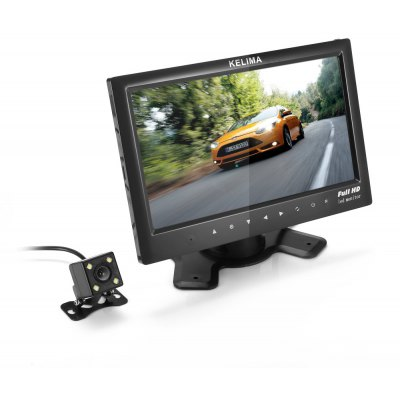 Kelima 00689 7 inch Full HD Touch Screen Car Monitor with 4 LED Reversing Camera