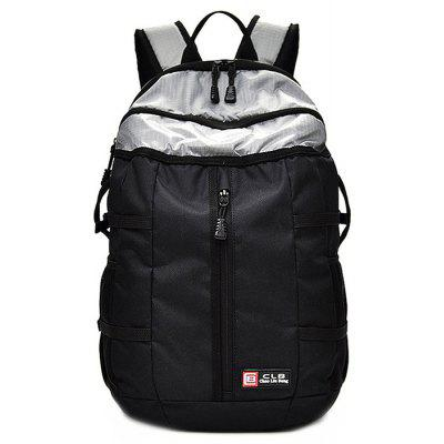 Buy BLACK + SILVER Men Chic Splicing Water-resistant Nylon Sports Backpack for $32.28 in GearBest store