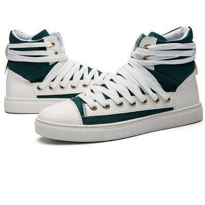 Masculino Stylish Canvas High Top Skateboarding Casual Shoes