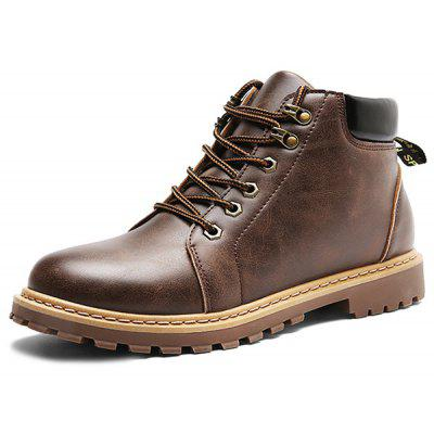 Male Individual Short Martin BootsMens Boots<br>Male Individual Short Martin Boots<br><br>Closure Type: Lace-Up<br>Contents: 1 x Pair of Boots<br>Materials: Rubber, Leather<br>Occasion: Casual, Holiday, Daily<br>Outsole Material: Rubber<br>Package Size ( L x W x H ): 33.00 x 24.00 x 13.00 cm / 12.99 x 9.45 x 5.12 inches<br>Pattern Type: Solid<br>Seasons: Autumn,Spring<br>Style: Fashion, Casual<br>Type: Boots<br>Upper Material: Leather