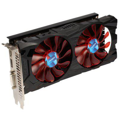 Yeston AMD RX550 4G GDDR5 Graphics CardGraphics &amp; Video Cards<br>Yeston AMD RX550 4G GDDR5 Graphics Card<br><br>Brand: Yeston<br>Chipset Manufacturer: AMD<br>CUDA Cores: 512<br>Engine Clock: 1183MHz<br>Graphics Chipset: Polaris 21<br>I/O Interface: 1 x DisplayPort, 1 x DVI, 1 x HDMI<br>Interface Type: PCI Express<br>Maximum Resolution: 4K<br>Memory Bus Width: 128Bit<br>Package size: 22.00 x 13.00 x 6.00 cm / 8.66 x 5.12 x 2.36 inches<br>Package weight: 0.8500 kg<br>Packing List: 1 x Yeston AMD RX550 4G GDDR5 Graphics Card<br>PCI Express Type: PCI-E 3.0<br>Power: 50W<br>Power Interface: 6Pin<br>Power Supply Type: 4+2 Phase<br>Process Technology: 14nm<br>Product weight: 0.8000 kg<br>Radiator Type: Dual Fans<br>Supports System: Ubuntu 16.04 64bit, Win7 64, Windows 10 64bit<br>Video Memory Capacity: 4GB<br>Video Memory Frequency: 7000MHz<br>Video Memory Type: GDDR5