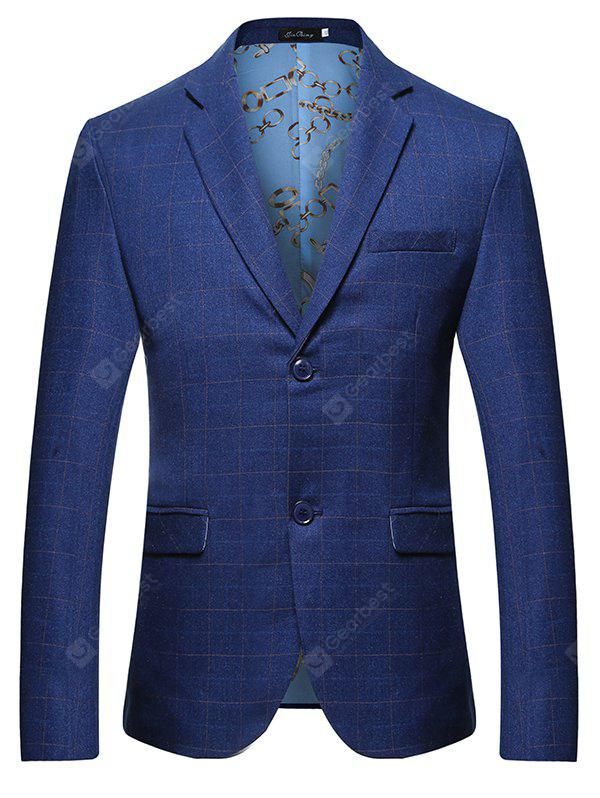 Checked Two Buttons Leisure Blazer pour homme