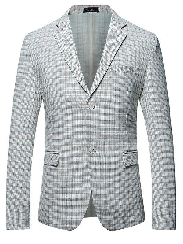 Hommes Checked All-match Leisure Costume single-breasted