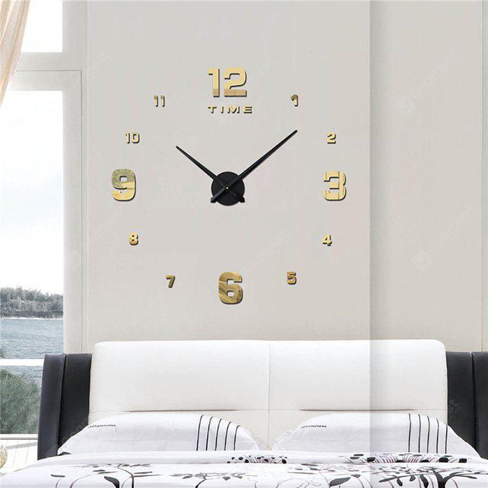 Buy M.Sparkling 3M005 3D Europe Style Acrylic Wall Clock LIGHT GOLD