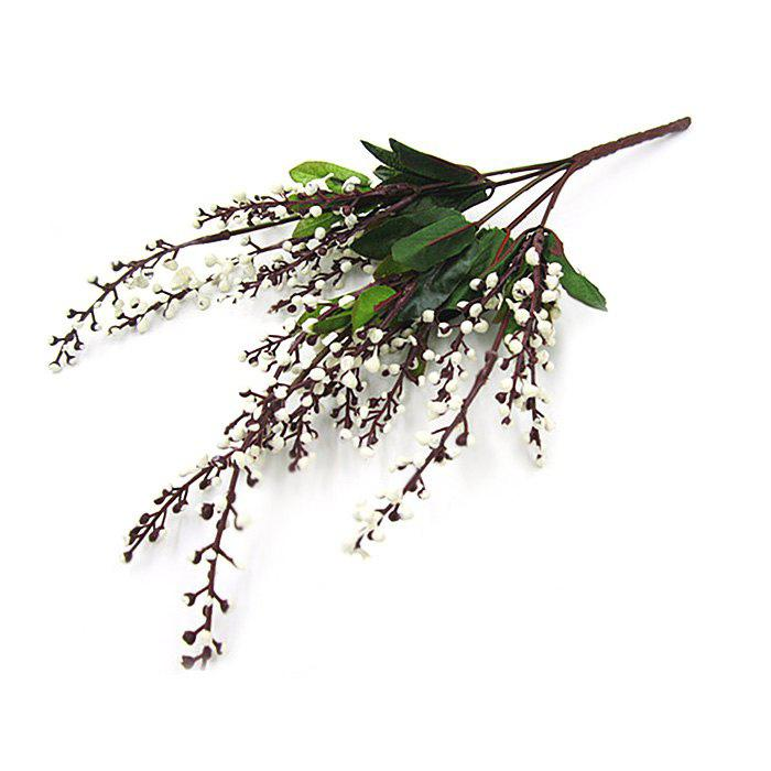 Buy Fake Fruits Home Decorative Artificial Flowers WHITE
