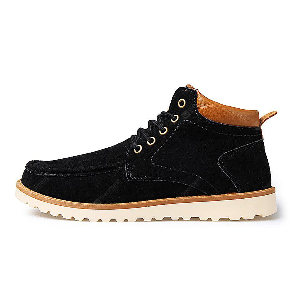 Casual Slip Resistant Suede Short Boots for Men