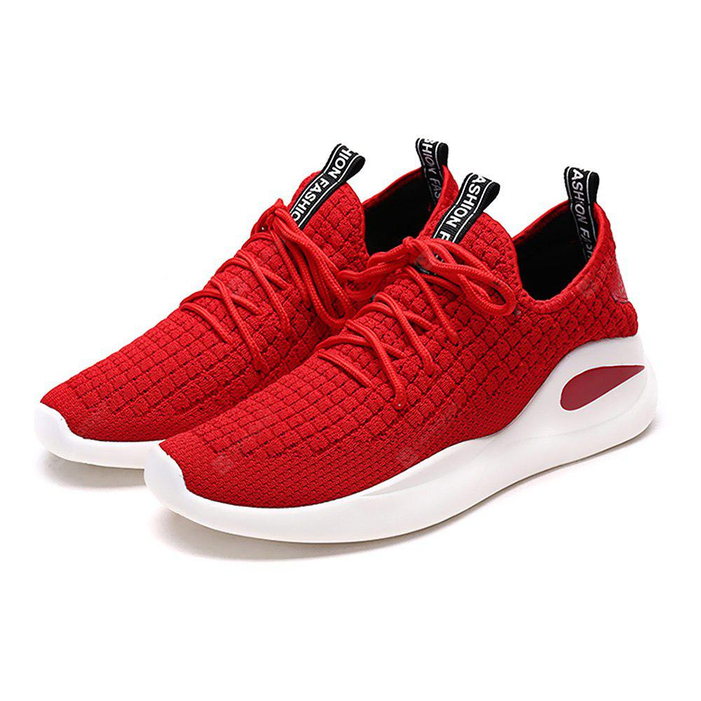 Breathable Mesh Lace UP Fabric Sneakers for Men