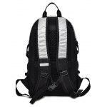 Buy Men Chic Splicing Water-resistant Nylon Sports Backpack VERTICAL BLACK + SILVER