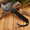 Portable Stainless Steel Axe with Paracord / Sheath - FULL BLACK