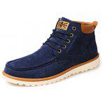 Casual Slip Resistant Suede Short Boots for Men - BLUE
