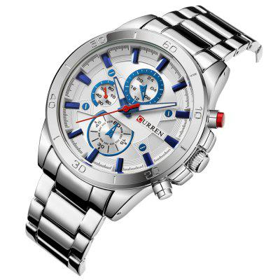 CURREN 8275 Business Sports Watch 45mmMens Watches<br>CURREN 8275 Business Sports Watch 45mm<br><br>Band material: Stainless Steel<br>Band size: 24 x 2cm<br>Brand: Curren<br>Case material: Stainless Steel<br>Clasp type: Folding clasp with safety<br>Dial size: 4.5 x 4.5 x 1.3cm<br>Display type: Analog<br>Movement type: Quartz watch<br>Package Contents: 1 x Watch, 1 x Box<br>Package size (L x W x H): 12.00 x 9.00 x 7.00 cm / 4.72 x 3.54 x 2.76 inches<br>Package weight: 0.2690 kg<br>Product size (L x W x H): 24.00 x 4.50 x 1.30 cm / 9.45 x 1.77 x 0.51 inches<br>Product weight: 0.1400 kg<br>Shape of the dial: Round<br>Watch style: Business<br>Watches categories: Men<br>Water resistance: Life water resistant