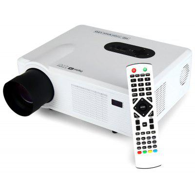 Excelvan CL720D LED Projector with Digital TV Slot  -  EU PLUG  WHITE