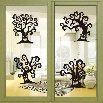 Buy BLACK MCYH Ghost Tree Mural Decal Home Decor Wall Sticker for $6.39 in GearBest store