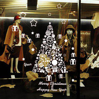 Buy WHITE MCYH Christmas Tree Pattern Wall Sticker for $9.37 in GearBest store